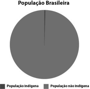 Gráfico de percentual de população indígena no Brasil