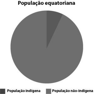 Gráfico de percentual de população indígena no Equador