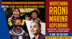 "International Colloquium on socio-environmental politics ""Amazon: rising violence and disturbing trends"""