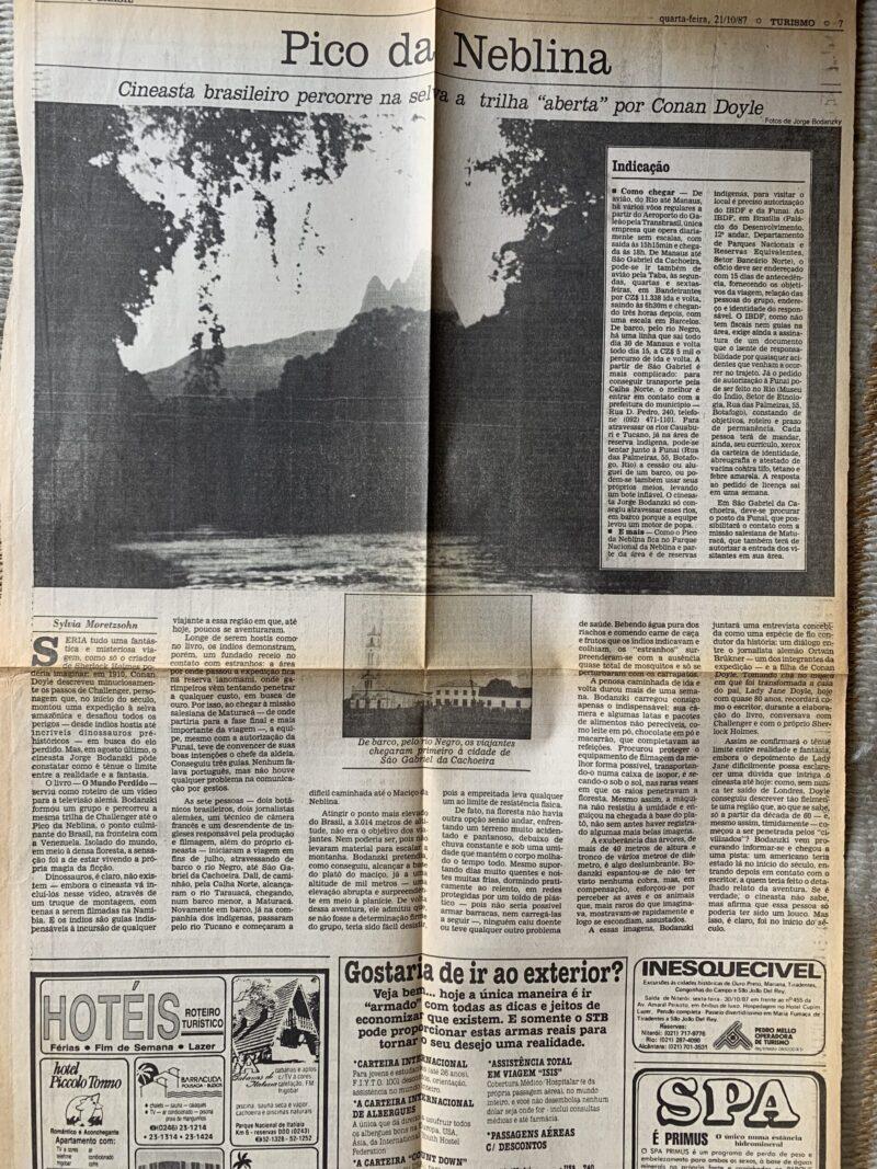 reportagem jornal expedição