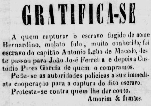 As marcas da escravidão em anúncios de fuga no Amazonas