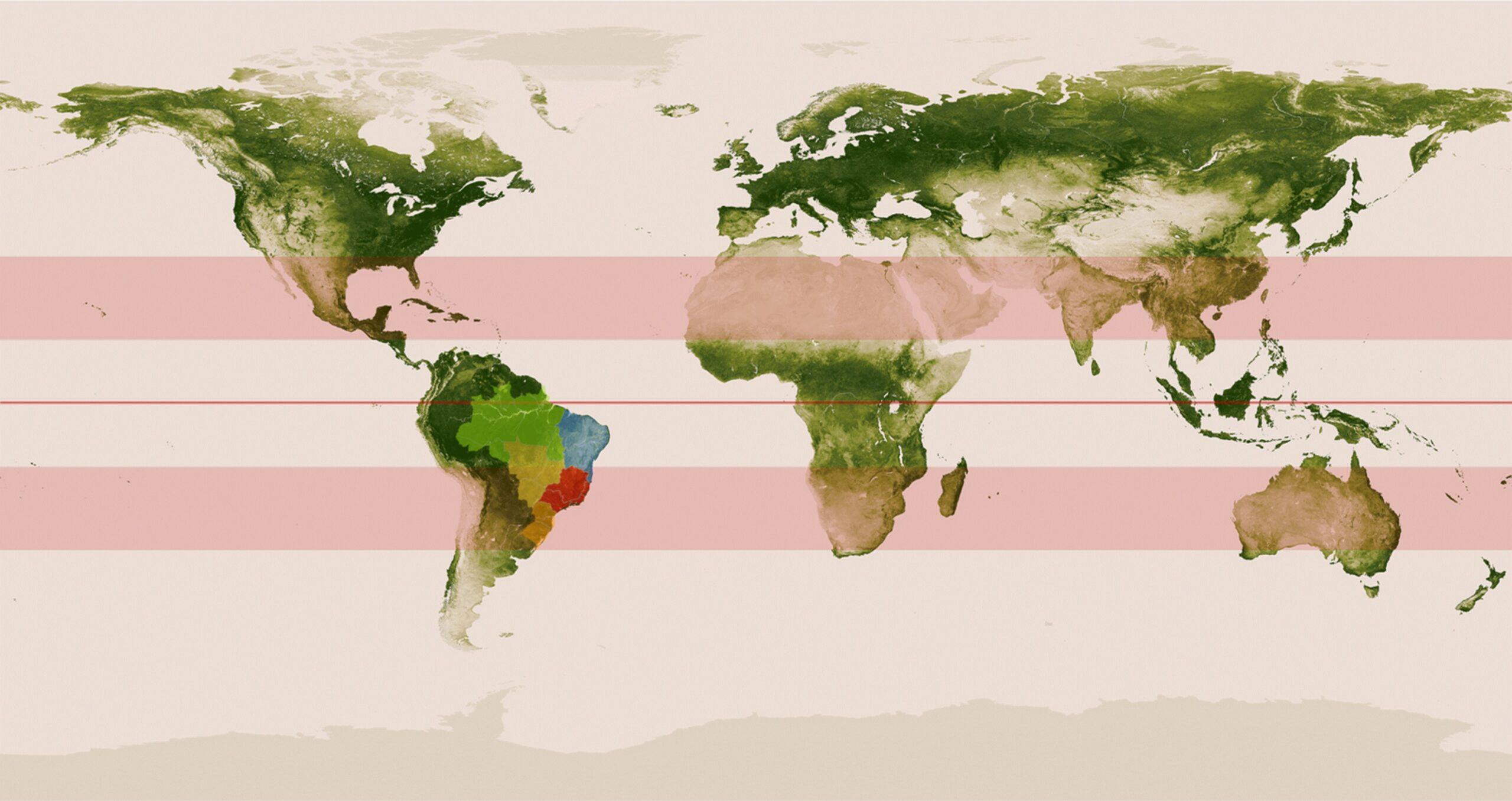 mapa vegetação agronegócio